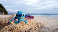 Stitch by the beach